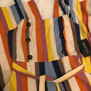 Multi-colored Striped Romper sz L